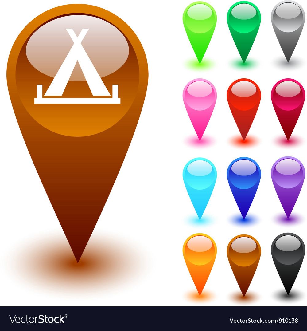 Tent button vector image