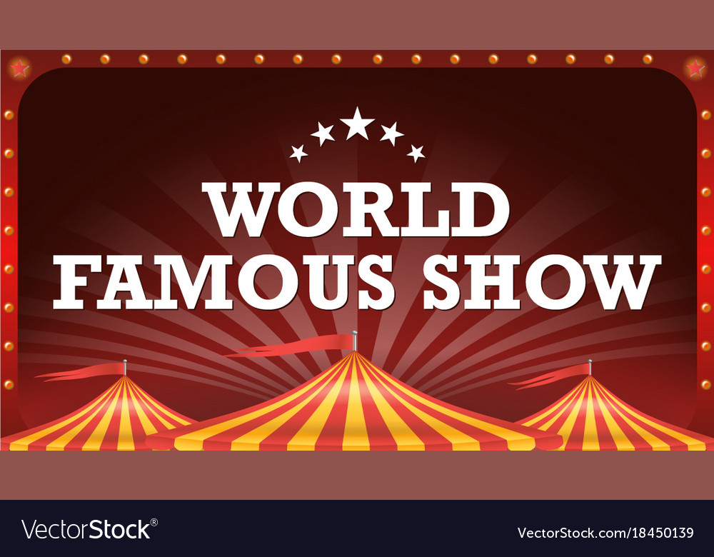 Circus poster banner vintage magic show vector image