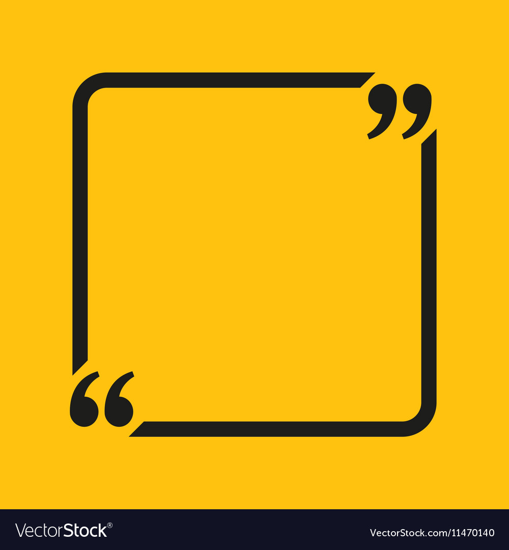 Quote Square Blank Template Bracket vector image