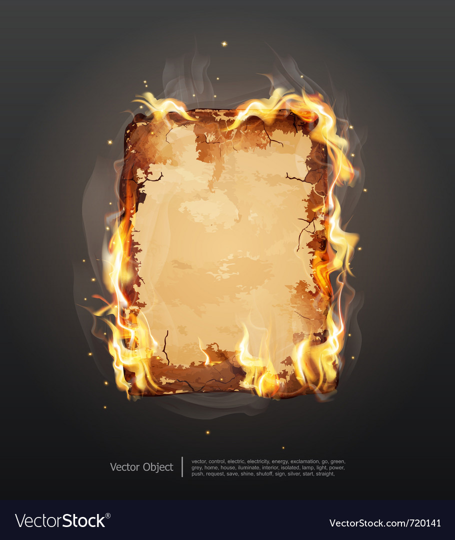 Glowing ancient parchment vector image