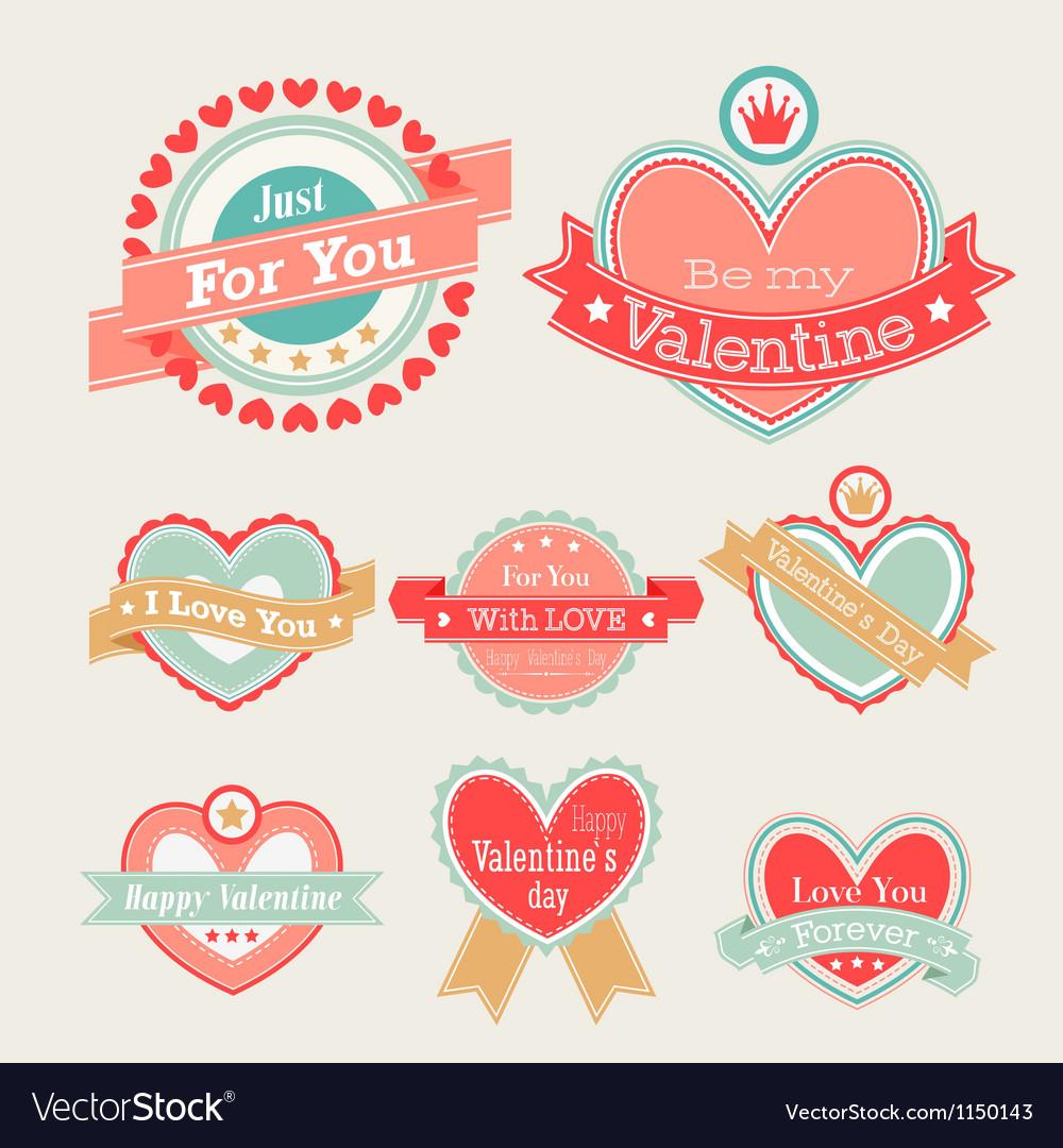 Valentine lebel Vector Image
