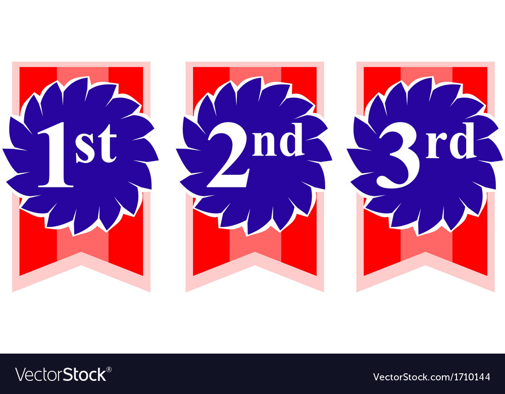 1st 2nd 3rd Rosette Awards vector image