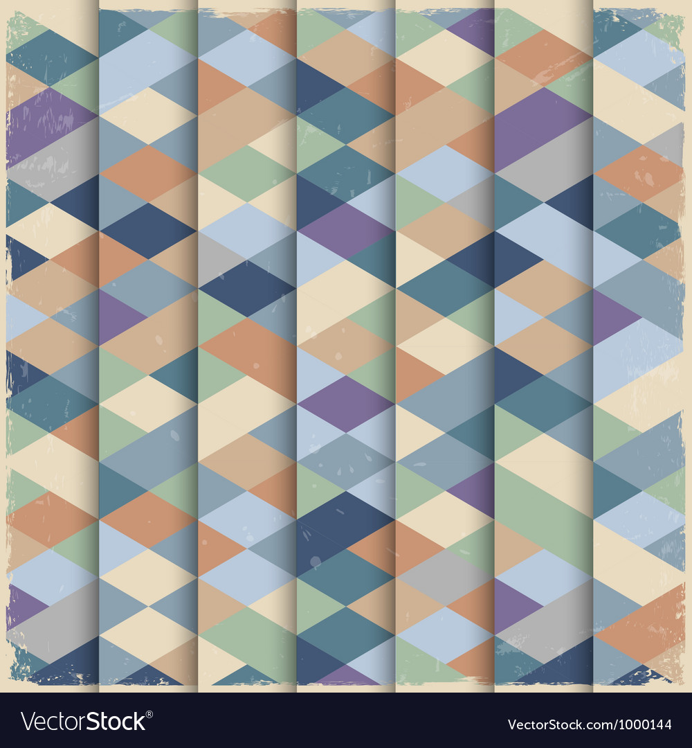 Geometric structure in grunge style vector image