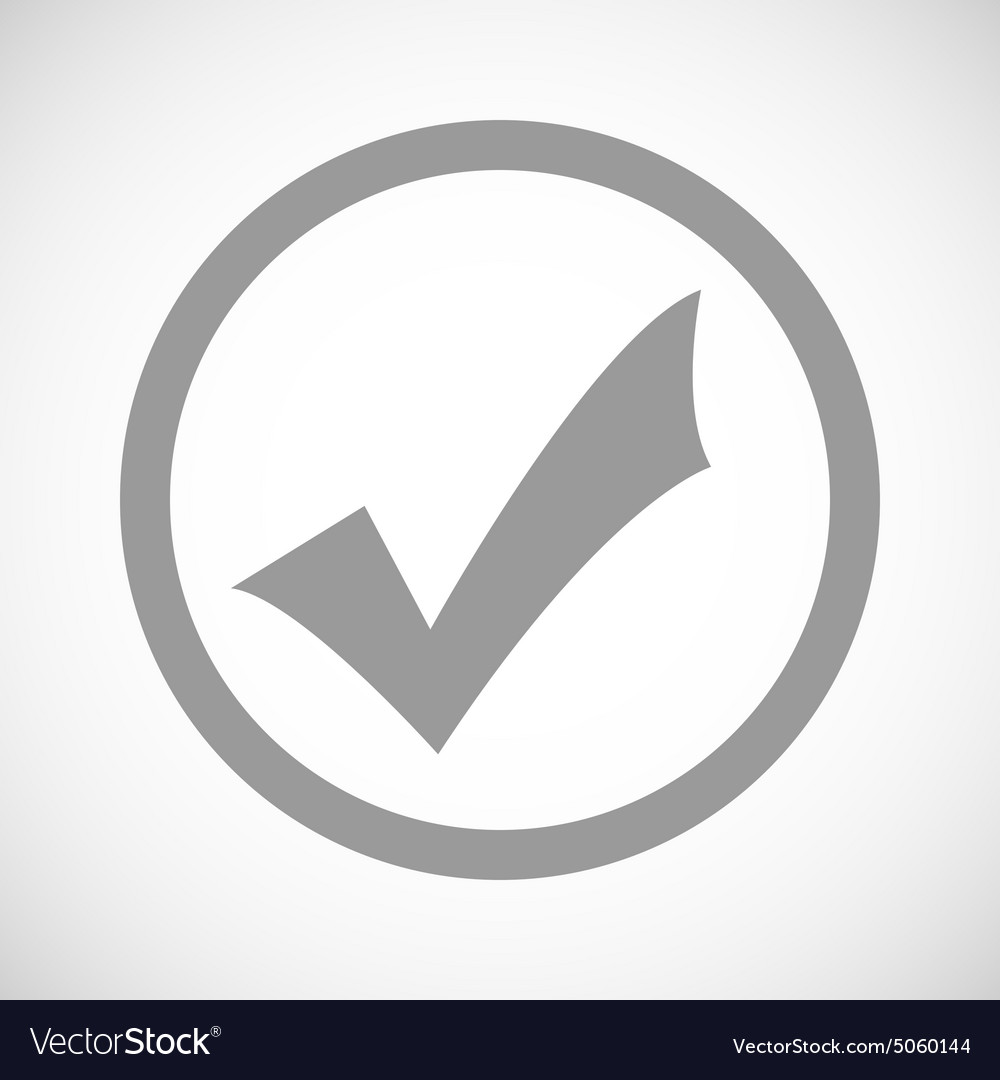 Grey tick mark sign icon royalty free vector image grey tick mark sign icon vector image buycottarizona Images