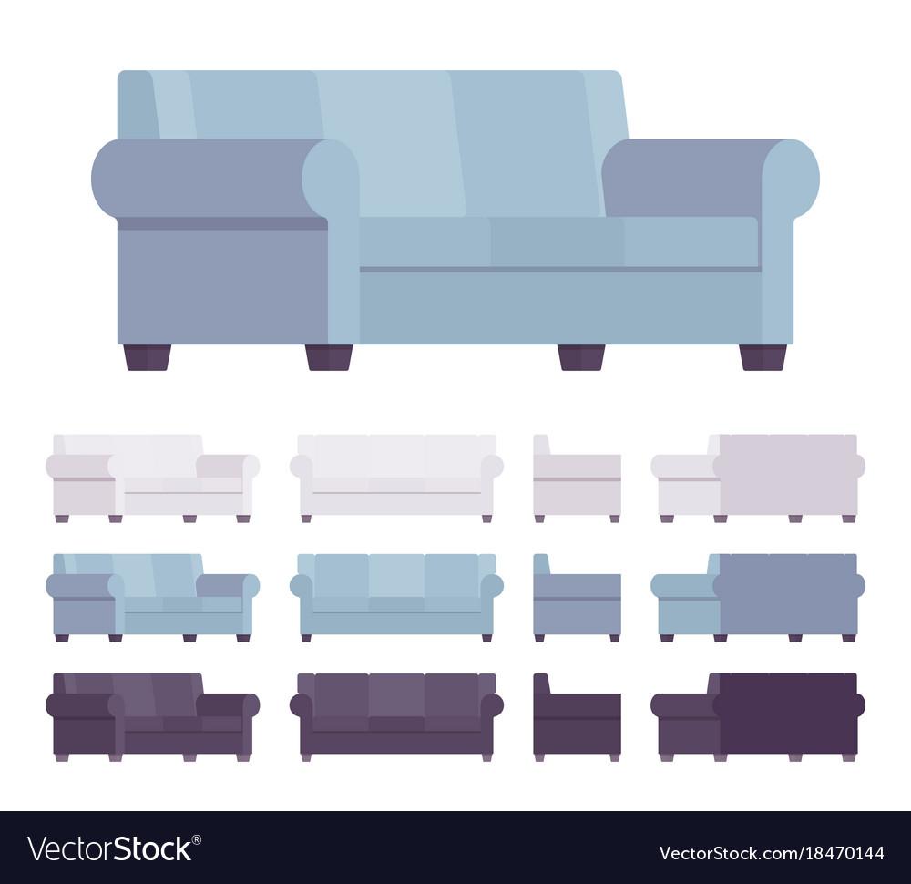 Sofa interior set vector image