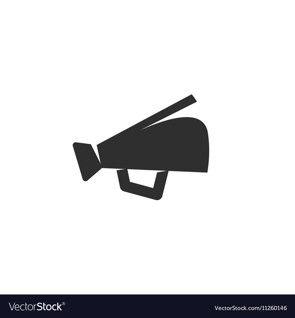 Megaphone Icon logo on white background vector image