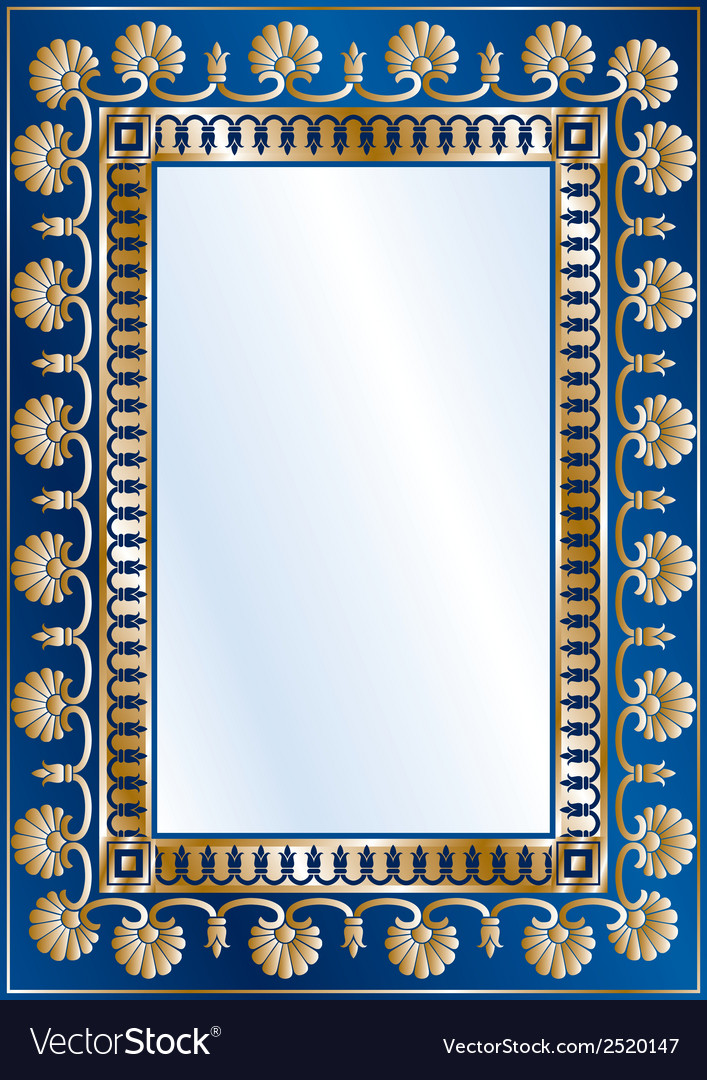 Blue gold diploma vector image