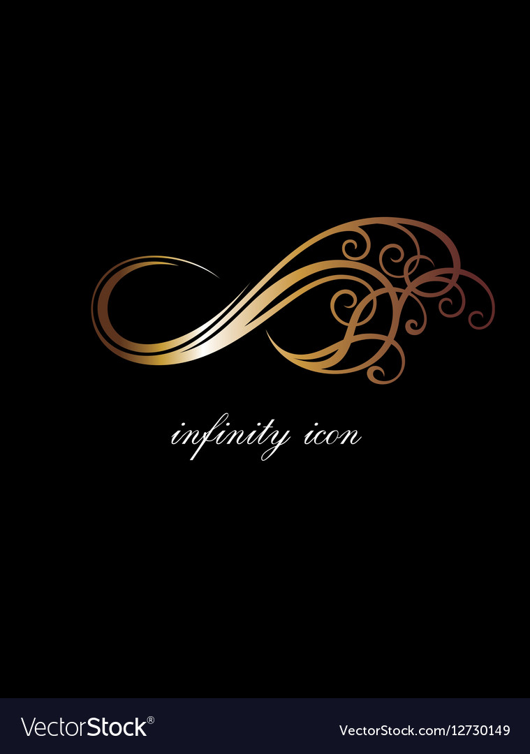 Infinity in gold vector image