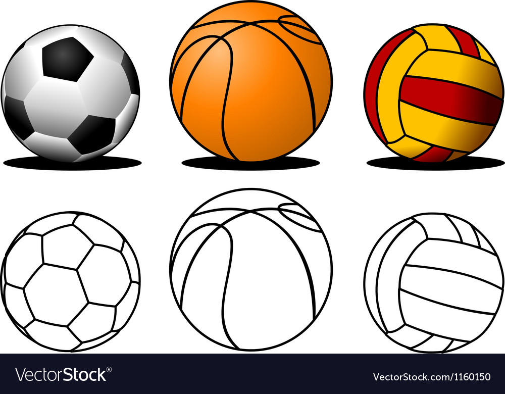 Collection of balls vector image