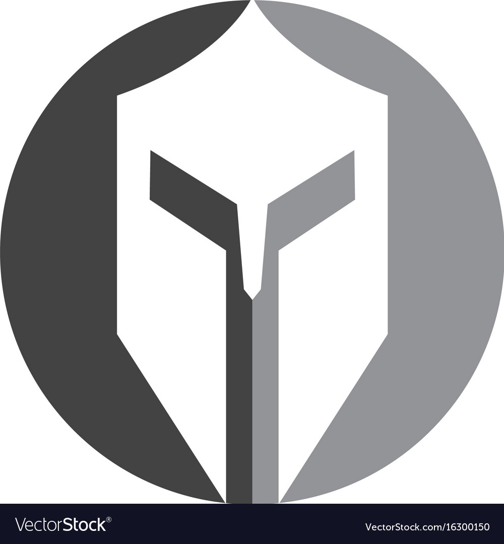spartan mask template - spartan helmet logo template icon design vector image