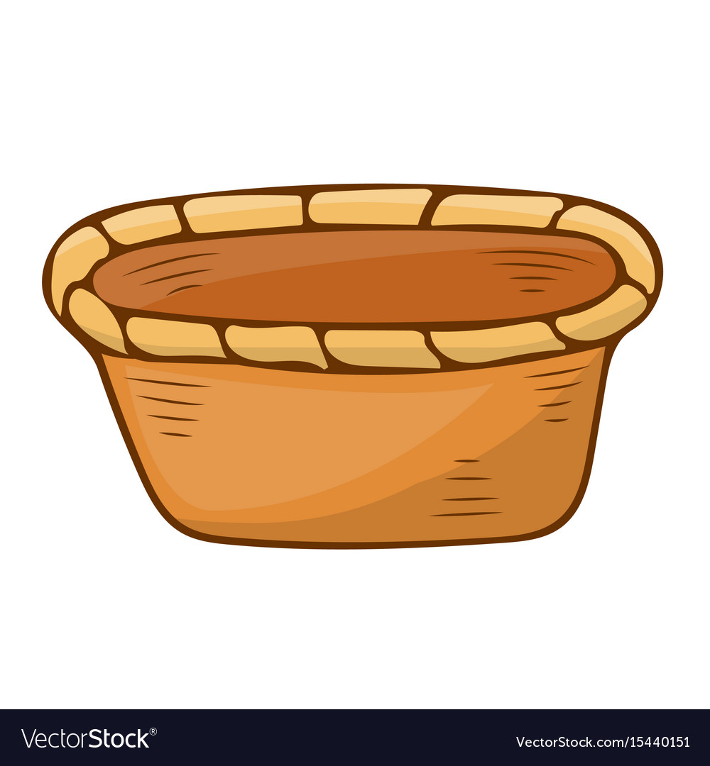 Basket isolated vector image
