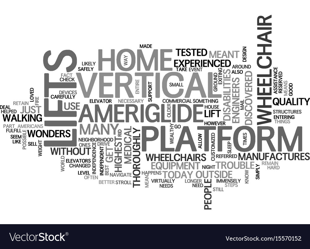 Americans with disabilities act text word cloud vector image