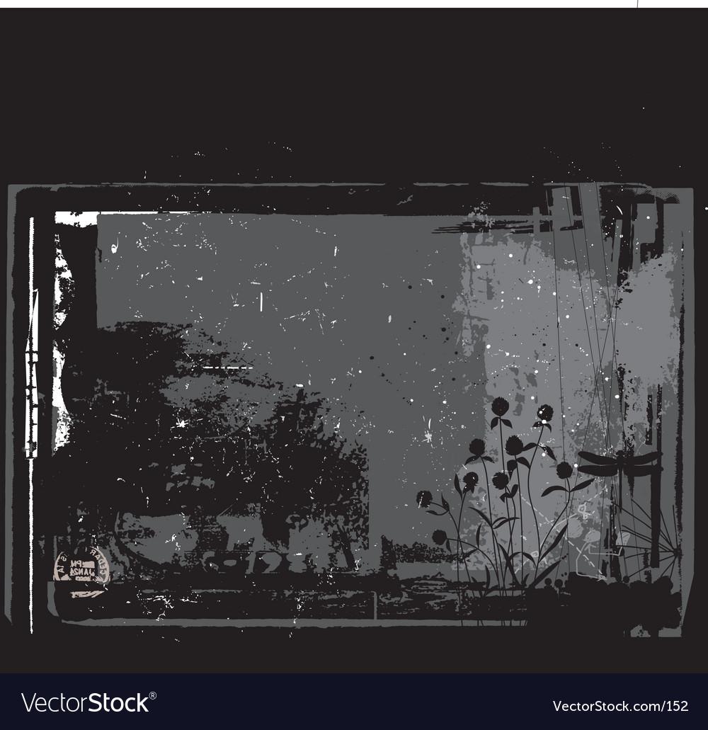 Antique grunge background vector image