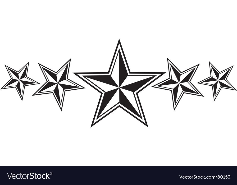 Nautical stars vector image