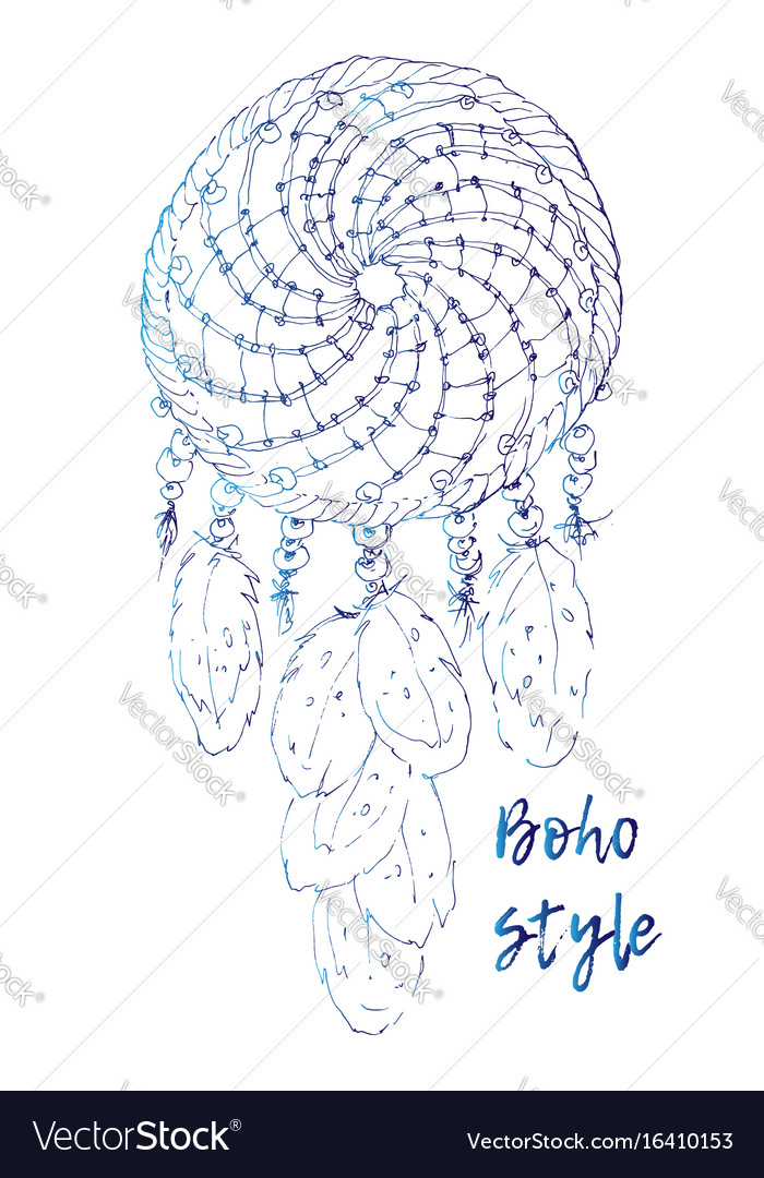 Drawing of a floral mandala in ethnic tribal stile vector image