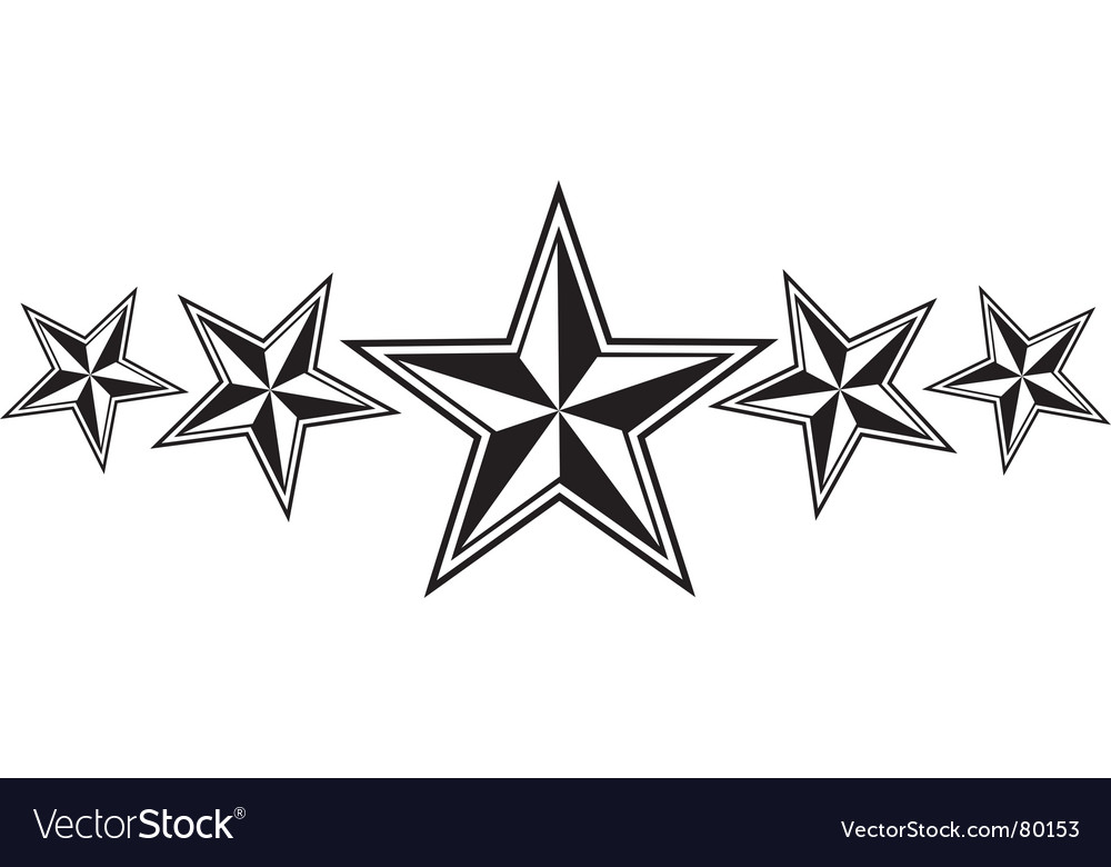 Nautical stars vector image