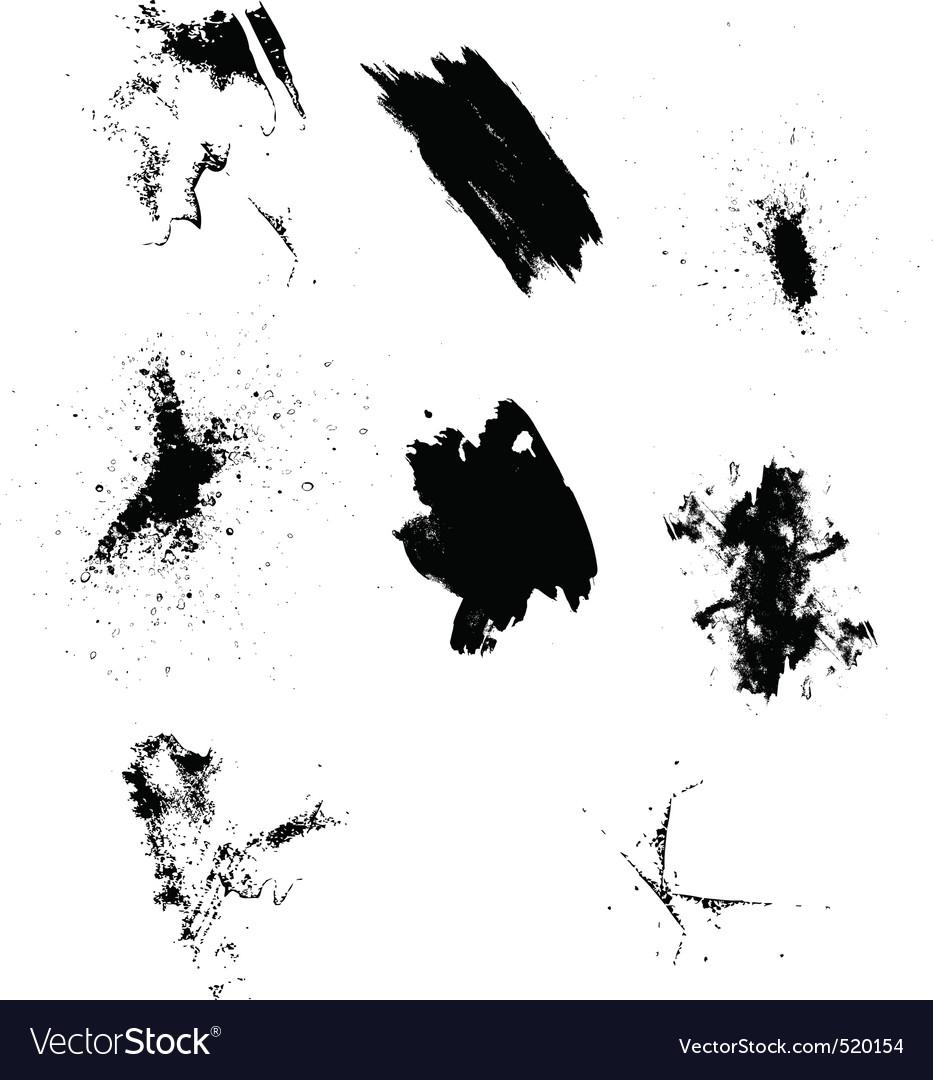 Splatters vector image