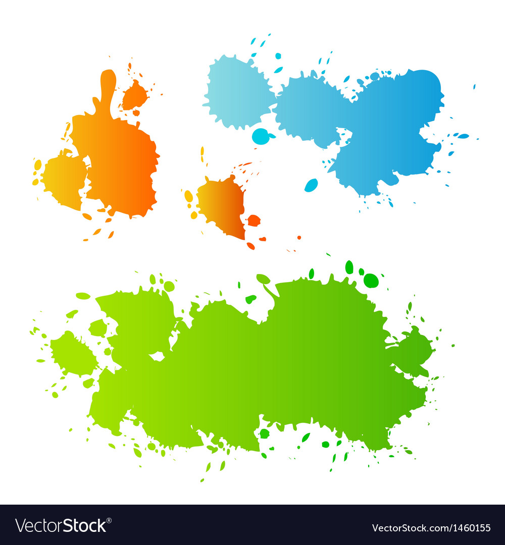 collection of paint splash royalty free vector image rh vectorstock com paint splash vector download paint splash vector tutorial