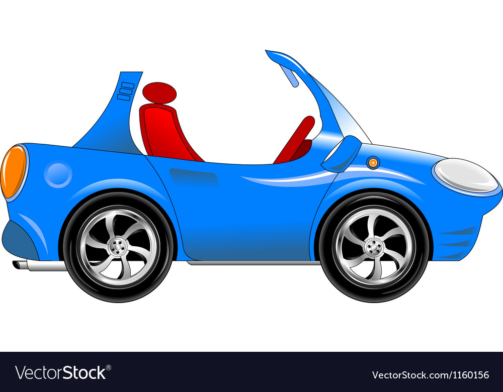 Small blue car vector image