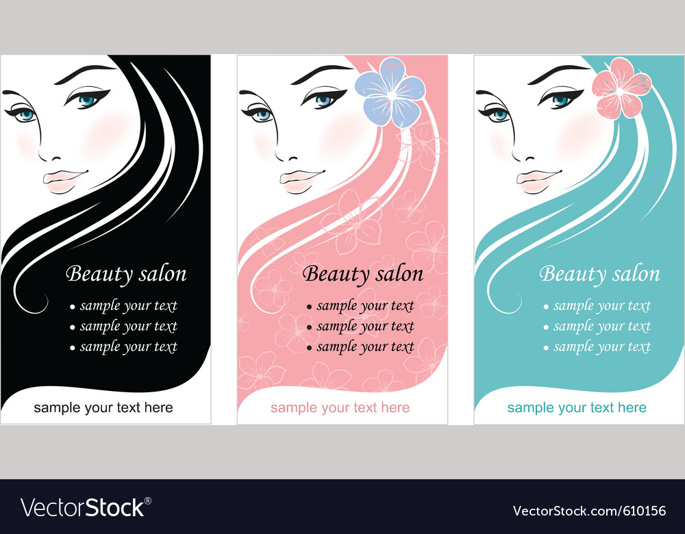 Beauty fashion ad vector image