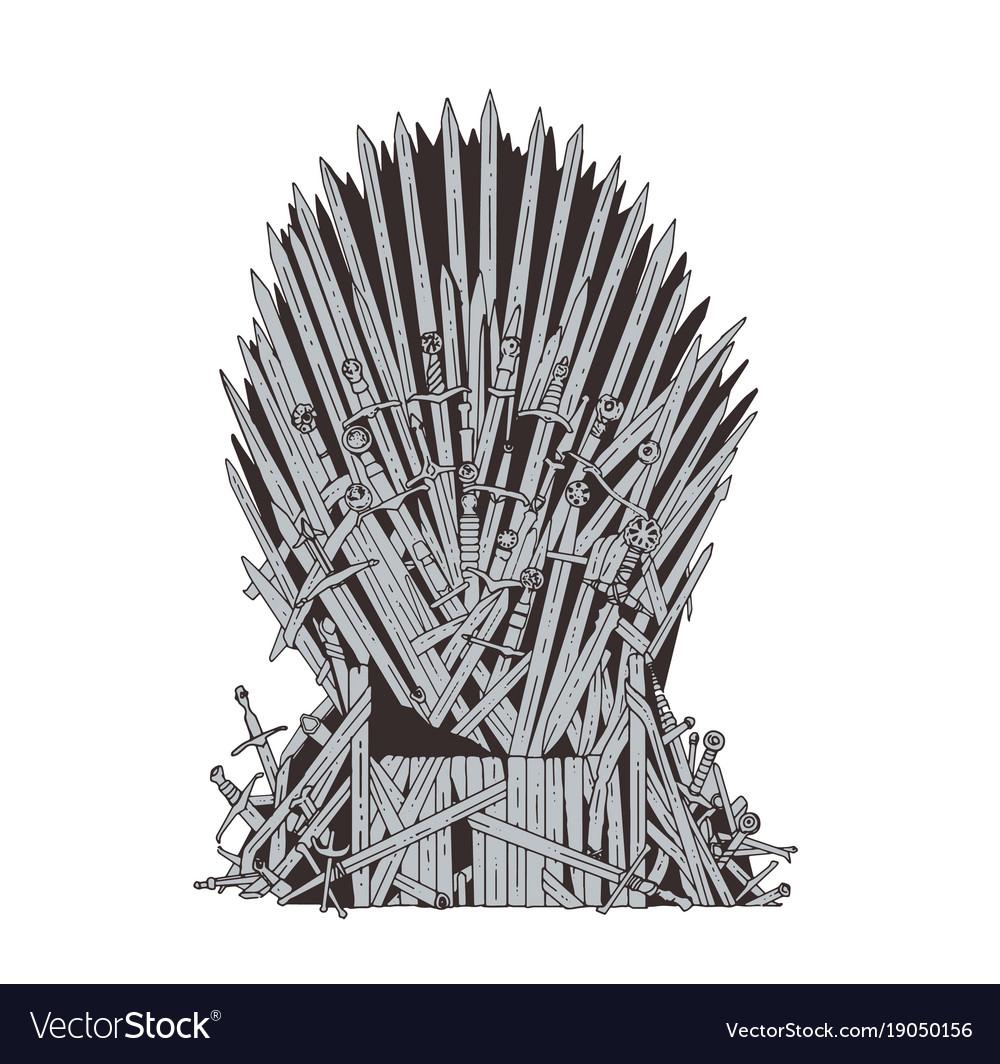 Iron Throne Silhouette Iron Throne Drawing | ...