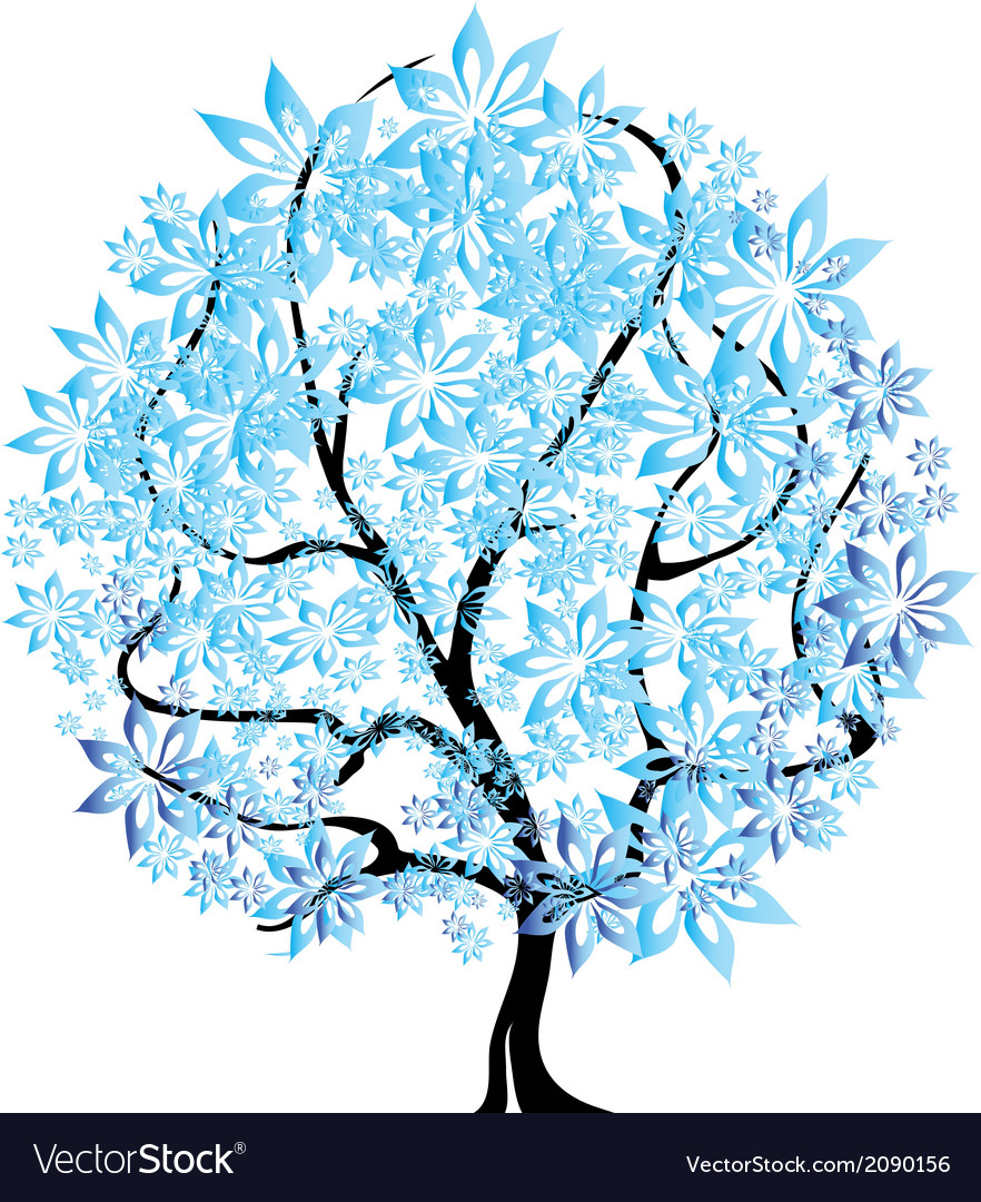 Tree in snow vector image