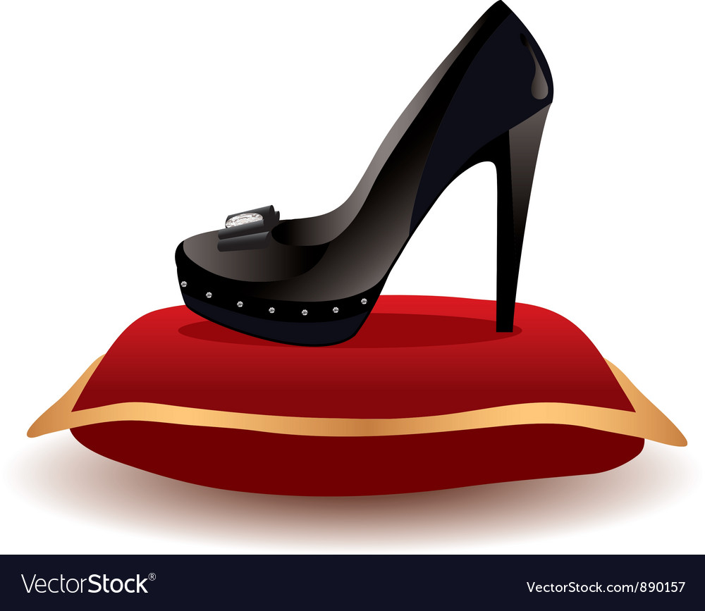 Shoe on the pillow vector image