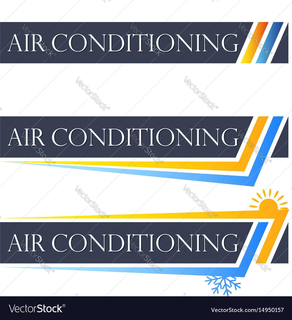 Air conditioning set symbol vector image