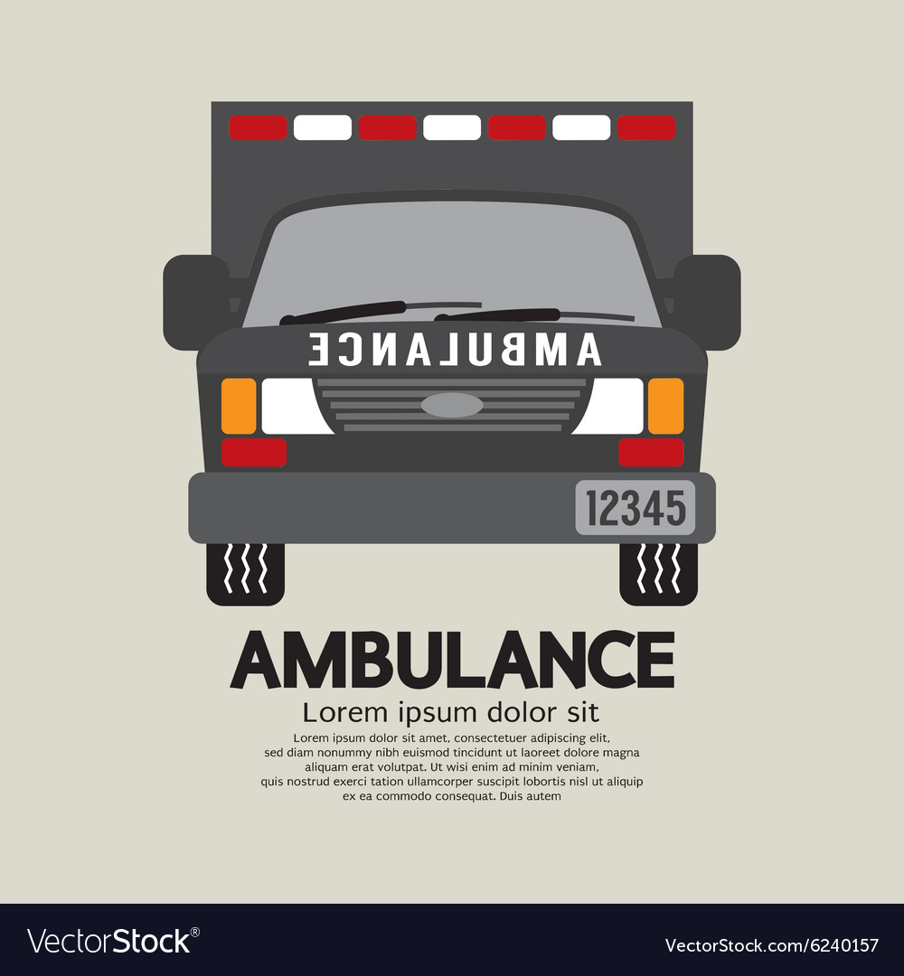 Front View Of Ambulance vector image