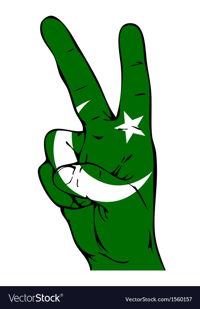 Peace Sign of the Pakistani flag vector image