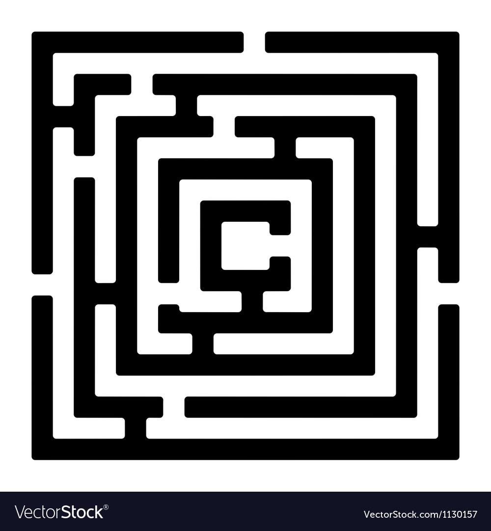 Rectangle maze izolated on white vector image