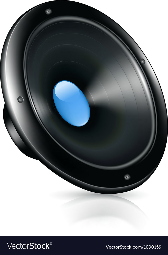Speaker icon vector image