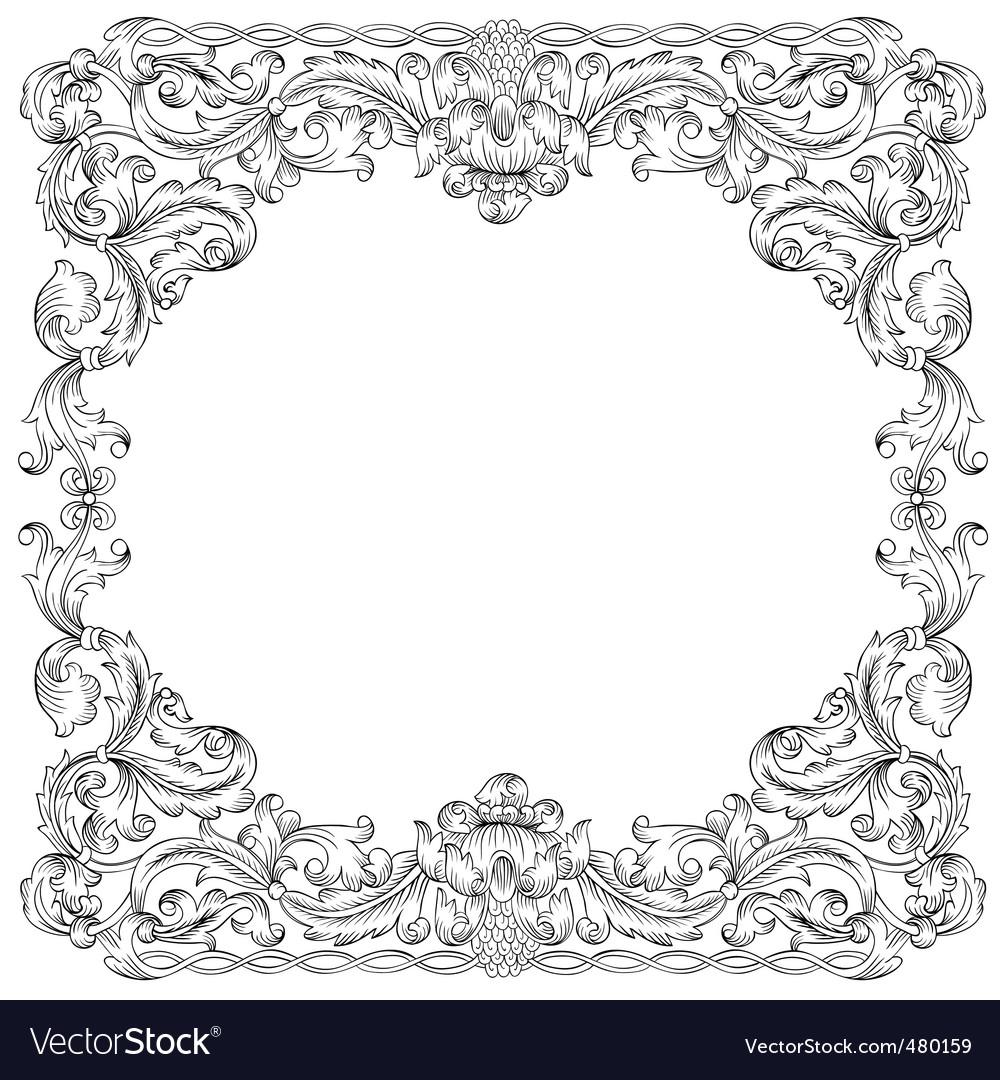 Ornament border vector image