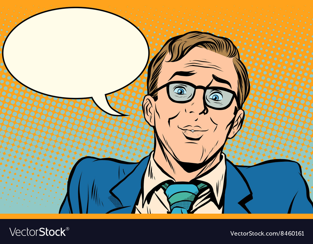 Funny face man love vector image