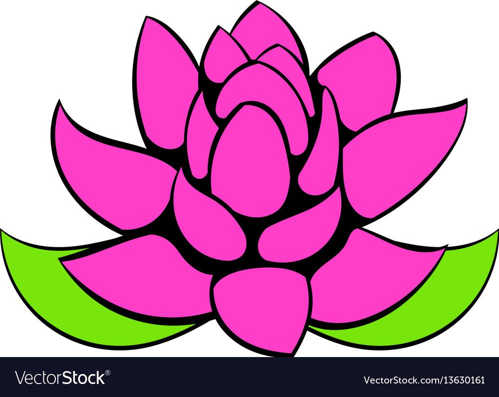 Lotus flower icon cartoon royalty free vector image lotus flower icon cartoon vector image izmirmasajfo Gallery