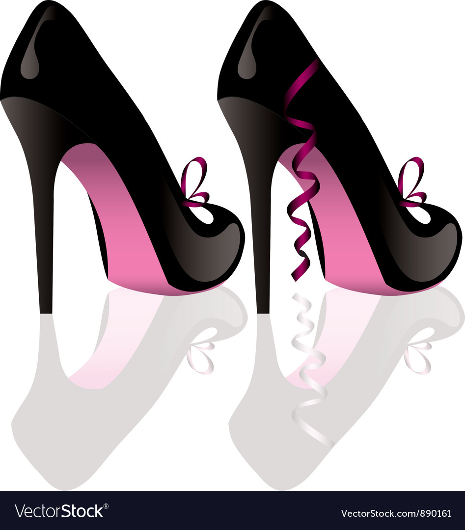 Pair of shoes vector image