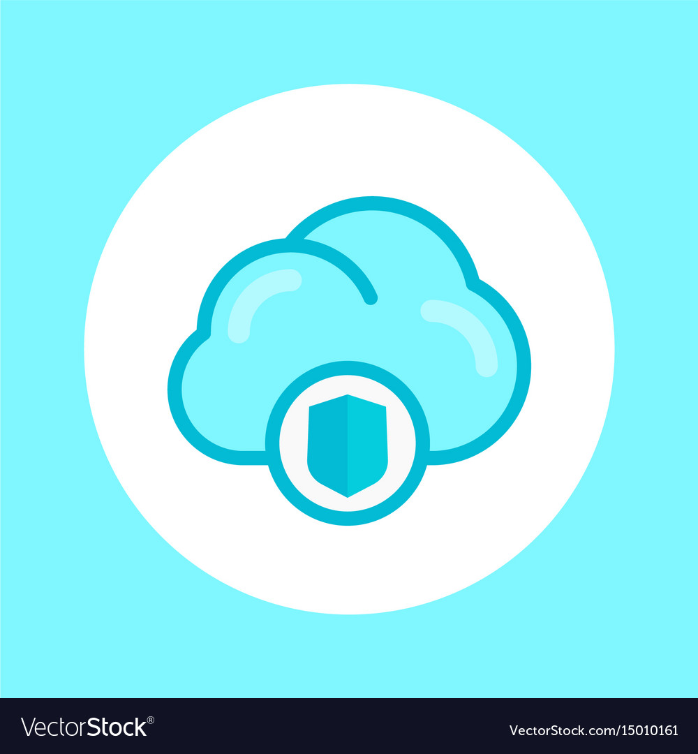 Secure cloud icon in flat style vector image