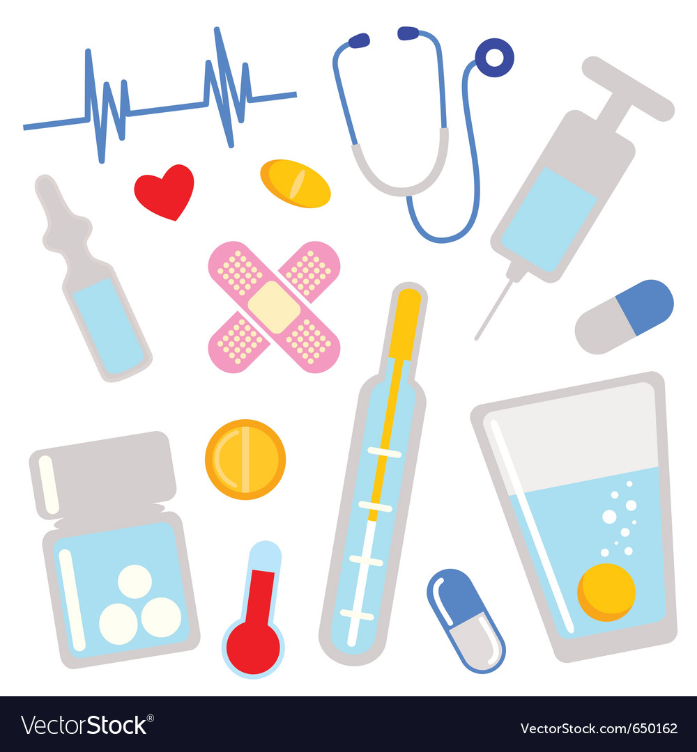 Medical icons design elements vector image