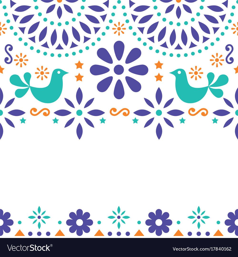 Mexican folk art greeting card invitation vector image mexican folk art greeting card invitation vector image stopboris Images