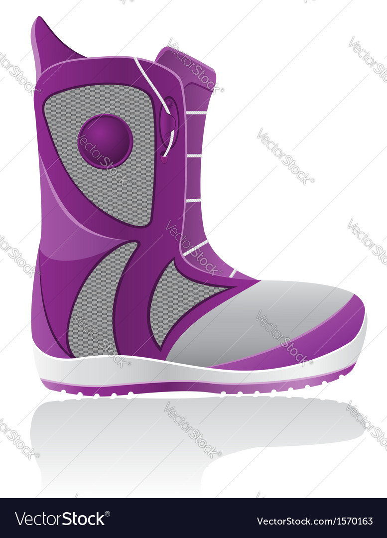 Boot for snowboarding vector image