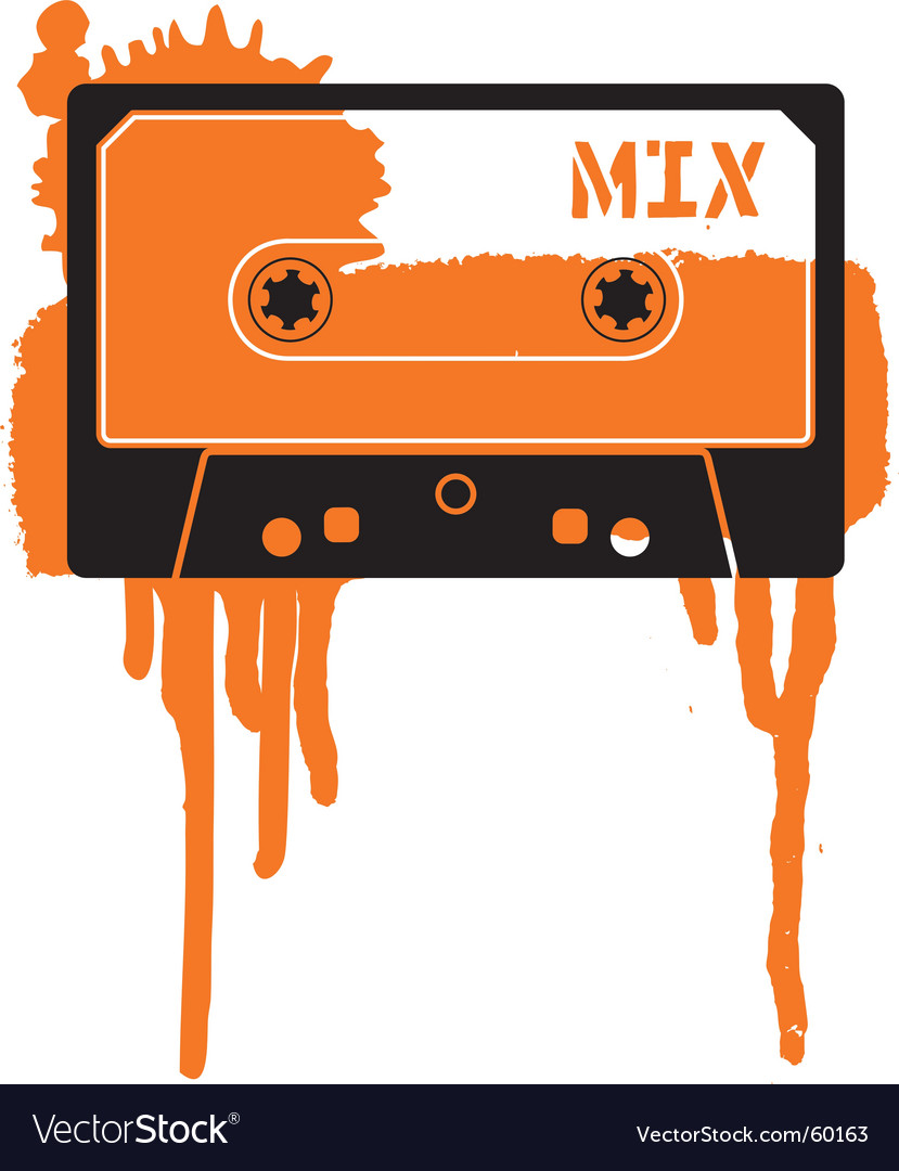 Mix tape vector image