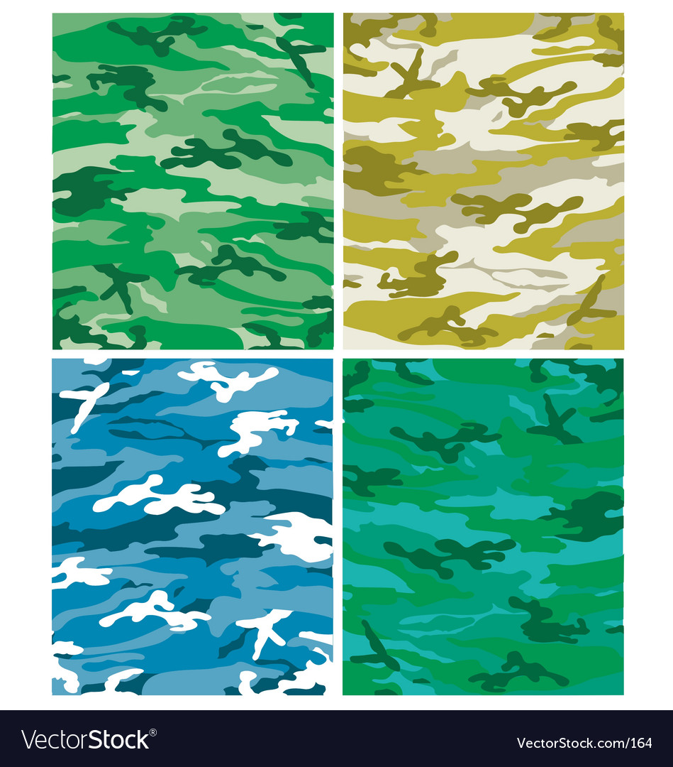Camoflague patterns vector image