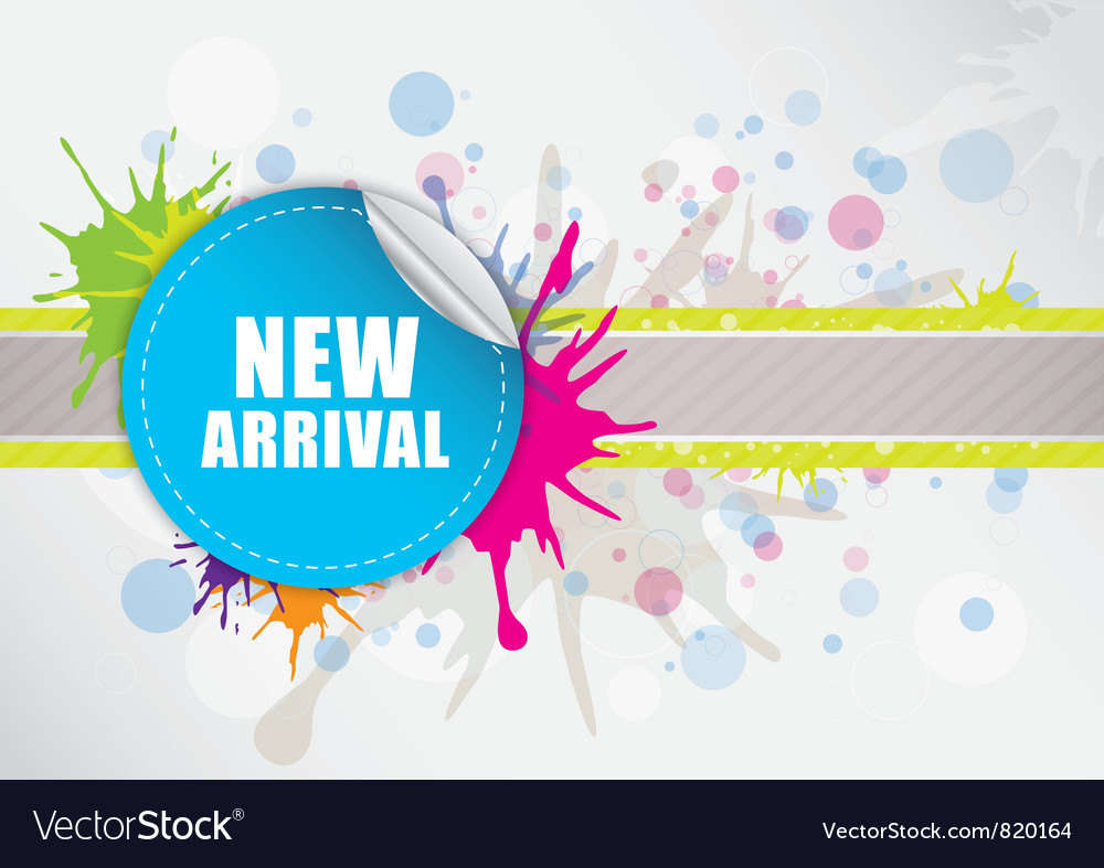 New arrival label design vector image