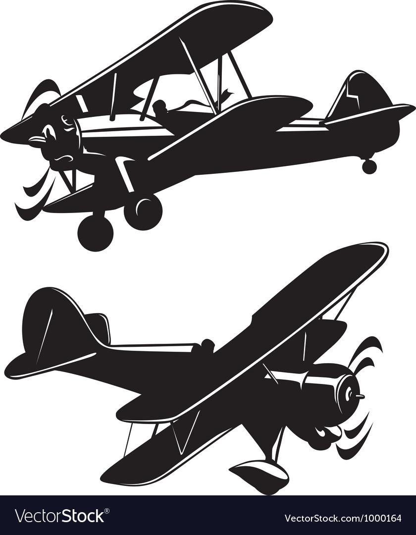 airplanes royalty free vector image vectorstock