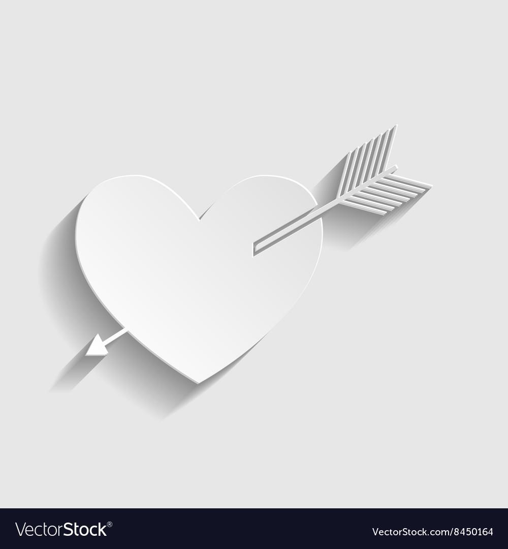 Arrow heart icon vector image