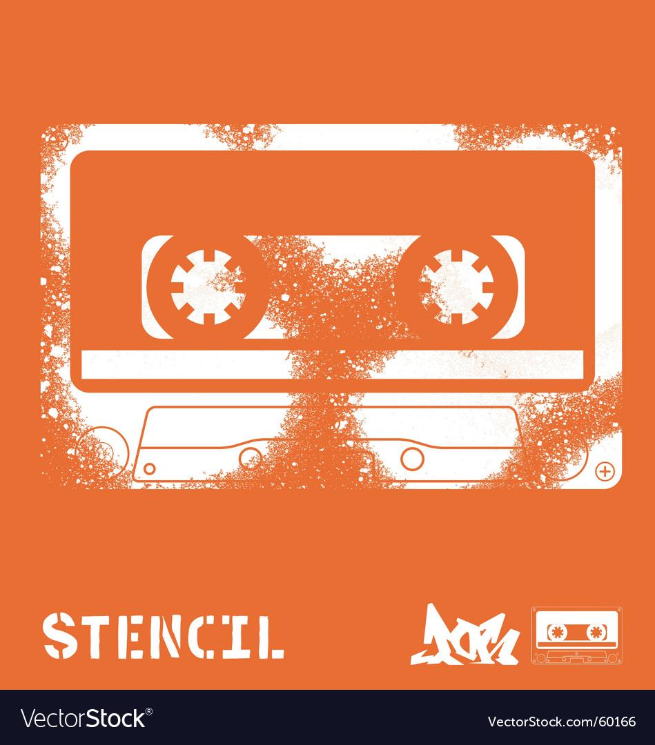 Stencil tape Vector Image