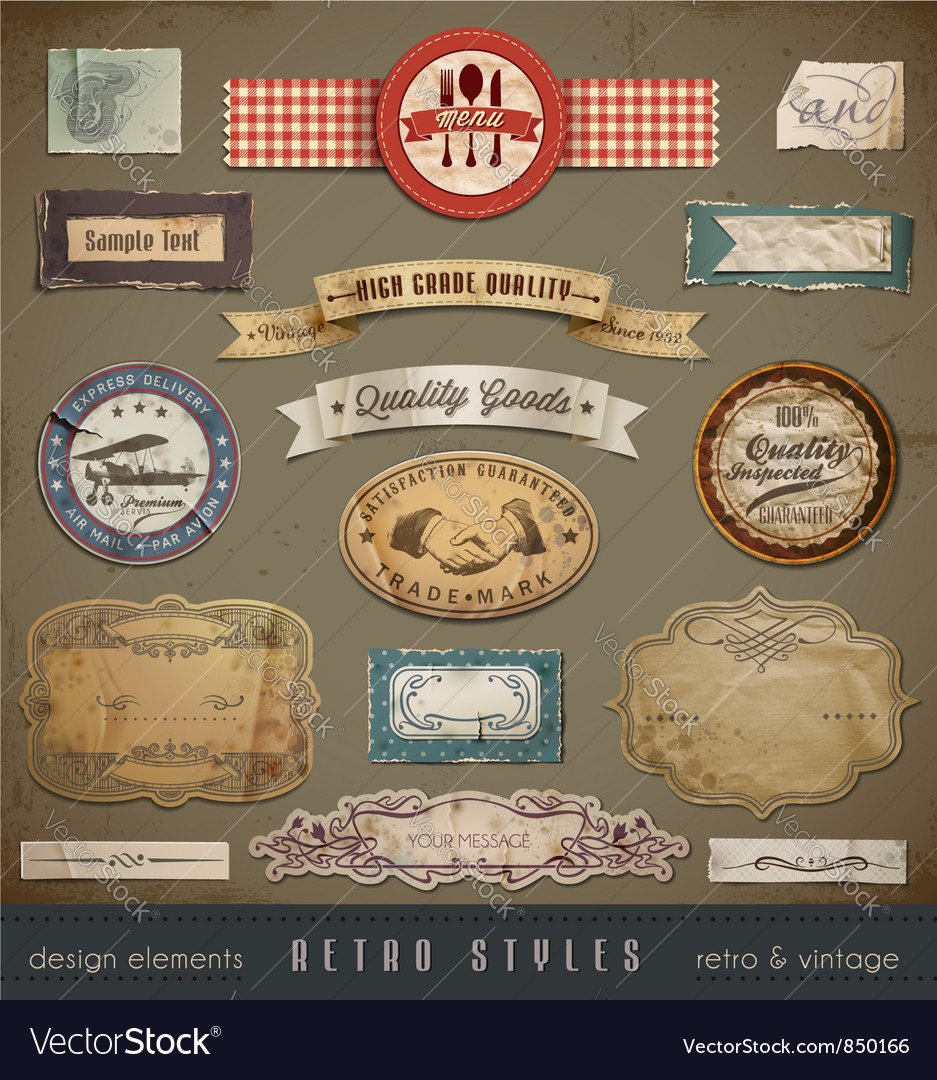 Vintage And Retro Design vector image