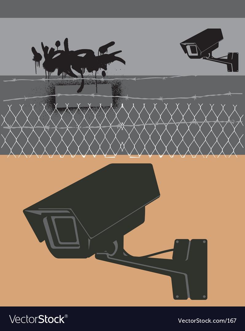 Cctv camera vector image