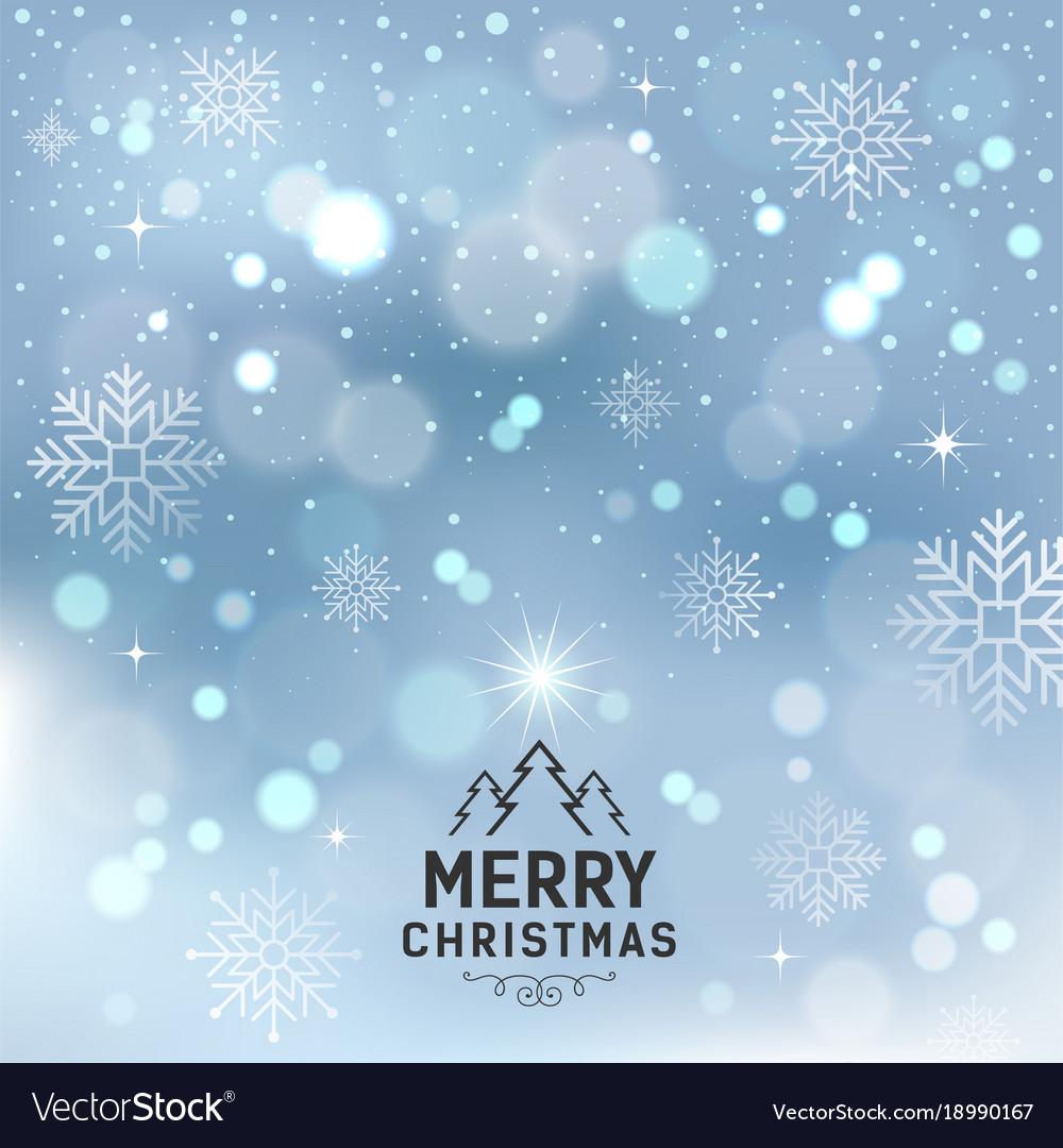 Merry christmas with snowflake and lighting vector image