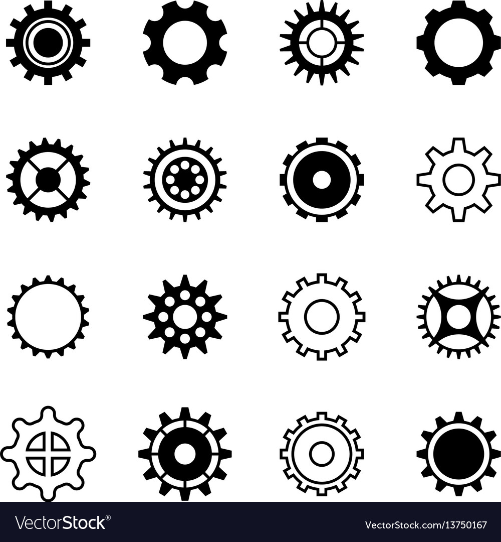 Transmission gear wheel engine gearshift vector image